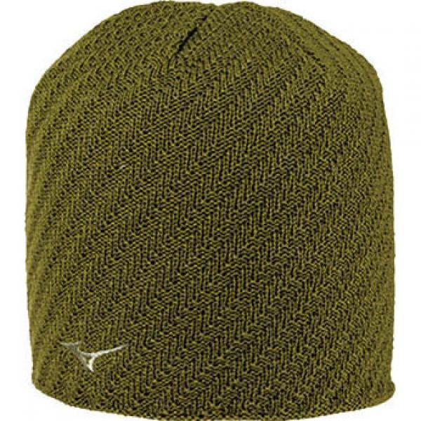 (セール)MIZUNO(ミズノ)ウインター ビーニー ニット帽子 ヘッドアクセ BTニットキャップ Z2JW550538 フリー カーキ