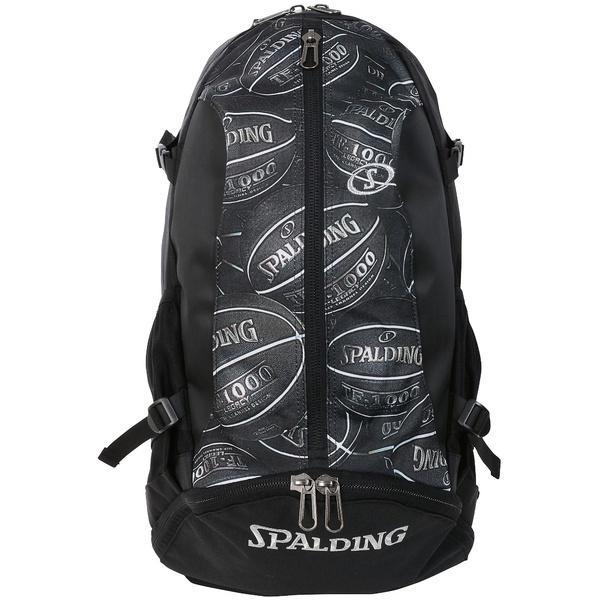 (送料無料)SPALDING(スポルディング)バスケットボール バッグ ケイジャー ボールプリント 40-007BP F BLACK