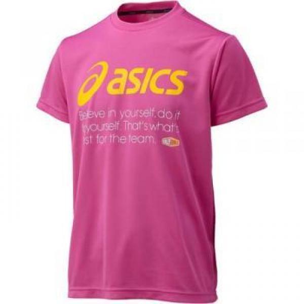 (セール)ASICS(アシックス)バレーボール 半袖Tシャツ バレーボール ウェア プリントTシャツHS XW679N 18A RED