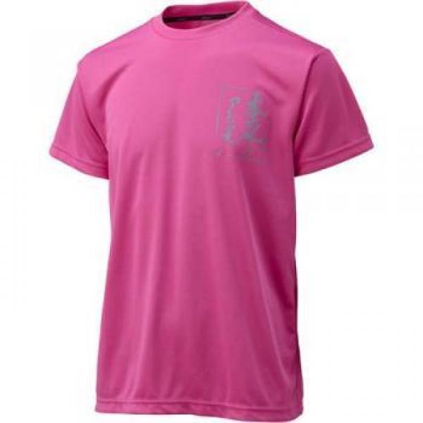 (セール)ASICS(アシックス)バレーボール 半袖Tシャツ バレーボール ウェア プリントTシャツHS XW679N 18B RED