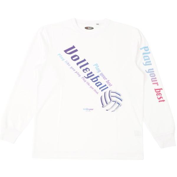 (セール)s.a.gear(エスエーギア)バレーボール 長袖Tシャツ 長袖グラフィックT SA-F15-104-011 ホワイト