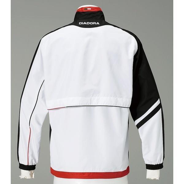 (セール)(送料無料)DIADRA(ディアドラ)テニス バドミントン ウインドアップ TEAMウーブンジャケット9099 TW5183-9099 メンズ ホワイトxブラック