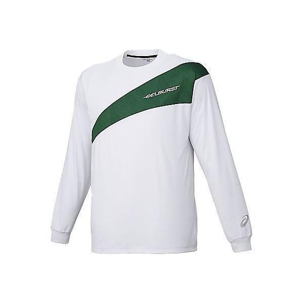 (セール)ASICS(アシックス)バスケットボール メンズ プラクティスシャツ TシヤツLS GB XB6560 0180 WHT/GRN