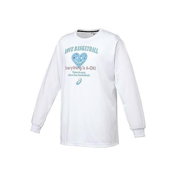 (セール)ASICS(アシックス)バスケットボール レディース 長袖Tシャツ WSプリントTシヤツLS XB975N 01B レディース WHT