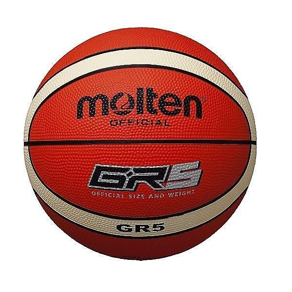 molten(モルテン)バスケットボール 5号ボール GR5 ゴムバスケットボール 5号 BGR5-OI ジュニア 5号球 オレンジxアイボリー