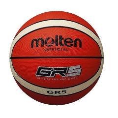<LOHACO> molten(モルテン)バスケットボール 5号ボール GR5 ゴムバスケットボール 5号 BGR5-OI ジュニア 5号球 オレンジxアイボリー画像