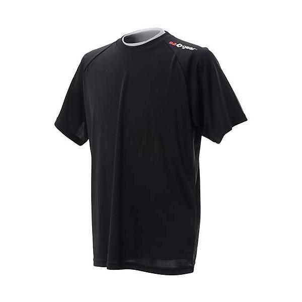 (セール)s.a.gear(エスエーギア)バレーボール 半袖Tシャツ 半袖ワンポイントTシャツ SA-Y14-104-004 BLK BLK