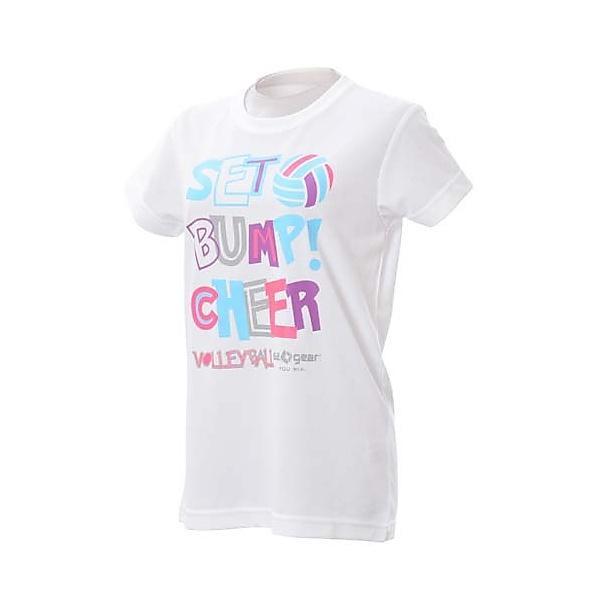(セール)s.a.gear(エスエーギア)バレーボール 半袖Tシャツ 半袖グラフィックTシャツ SA-S14-104-010 WHT レディース WHITE