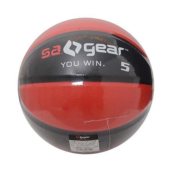 s.a.gear(エスエーギア)バスケットボール 5号ボール ゴム製バスケットボール5号 SA-Y15-103-030 ジュニア レッド/ブラック