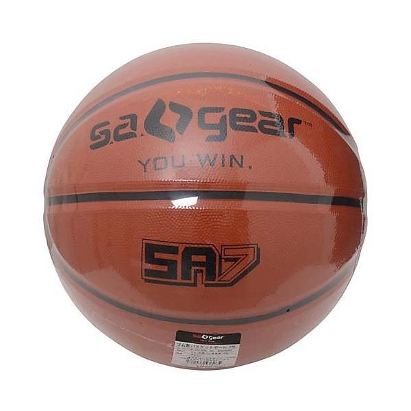 s.a.gear(エスエーギア)バスケットボール 7号ボール ゴム製バスケットボール7号 SA-Y15-103-032 メンズ ブラウン