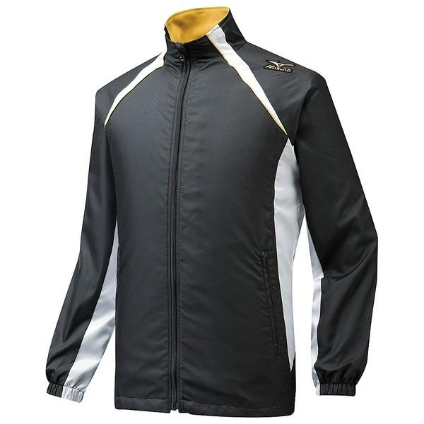(セール)MIZUNO(ミズノ)野球 ウインドシャツ ウィンドブレーカーシャツ MP 12JE5W0171 メンズ ブラックxホワイト
