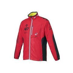 (セール)ASICS(アシックス)メンズスポーツウェア ウインドアップジャケット A77 ブレーカージャケット XAW713 2290 メンズ ハイレツドXブラ