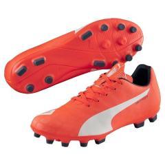 (セール)PUMA(プーマ)サッカー ジュニアスパイク エヴォスピード 5.4 HG 10329201 メンズ ラバ ブラスト/ホワイト/トータル エクリプス
