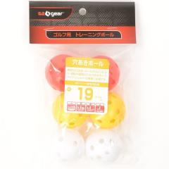 s.a.gear(エスエーギア)ゴルフ ゴルフ用品アクセサリー GOLF練習用ボール 穴あきボール6個入 SA-Y16-202-004