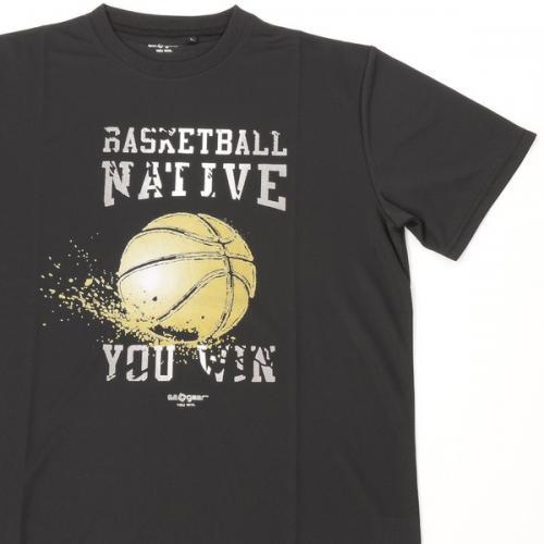 (セール)s.a.gear(エスエーギア)バスケットボール メンズ 半袖Tシャツ 16SグラフィックTシャツ2 SA-S16-103-019 メンズ ブラック