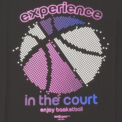 (セール)s.a.gear(エスエーギア)バスケットボール レディース 半袖Tシャツ 16SレディースグラフィックTシャツ6 SA-S16-103-031 レディース ブラック/ピンク