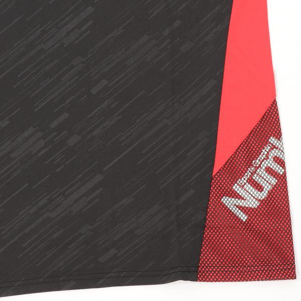 (セール)Number(ナンバー)バスケットボール メンズ プラクティスシャツ NBTF ロゴTシャツ NB-S16-103-001 メンズ ブラック/レッド