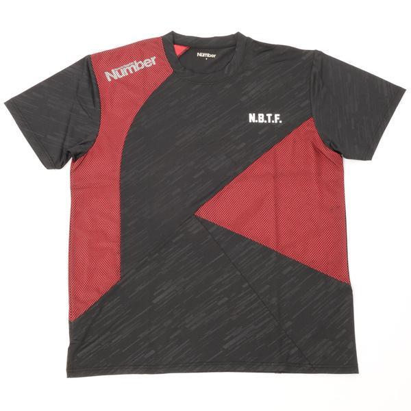 (セール)Number(ナンバー)バスケットボール メンズ プラクティスシャツ NBTF 切替えTシャツ NB-S16-103-004 メンズ ブラック/レッド