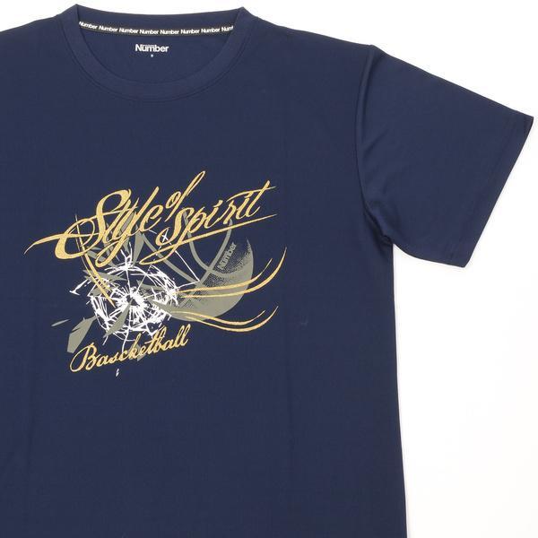 (セール)Number(ナンバー)バスケットボール メンズ 半袖Tシャツ NBTF デザインTシャツ NB-S16-103-008 メンズ ネイビー