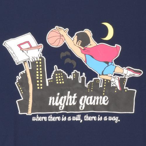 (セール)s.a.gear(エスエーギア)バスケットボール メンズ 半袖Tシャツ 16S キャラクターTシャツ NIGHT SA-S16-103-003 メンズ ネイビー