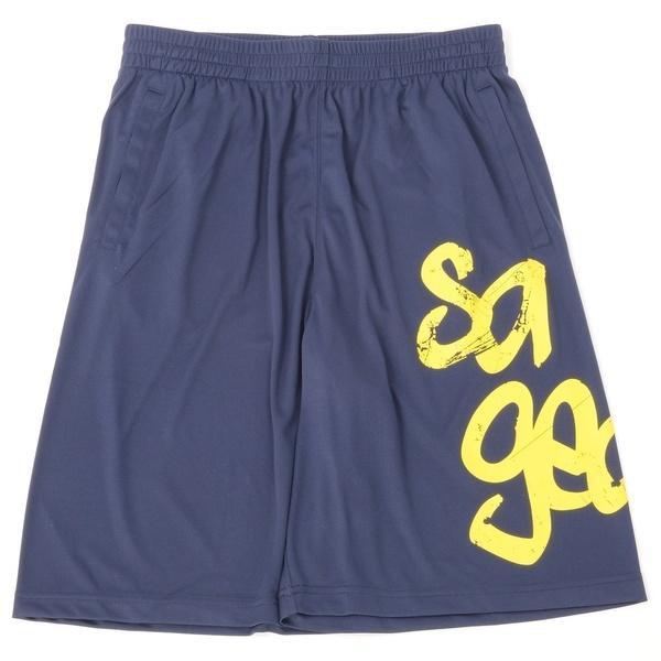 (セール)s.a.gear(エスエーギア)バスケットボール メンズ プラクティスショーツ ビッグロゴショーツ SA-Y16-103-008 メンズ ネイビー/イエロー
