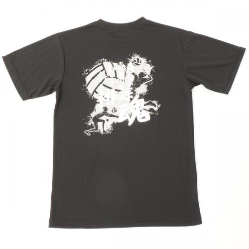 (セール)s.a.gear(エスエーギア)バレーボール 半袖Tシャツ 16SSメッセージTシャツ 排球魂 SA-S16-104-009 ブラック