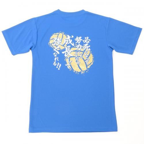(セール)s.a.gear(エスエーギア)バレーボール 半袖Tシャツ 16SSメッセージTシャツ 成長 SA-S16-104-010 ロイヤルブルー