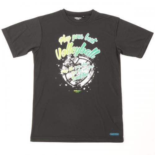 (セール)s.a.gear(エスエーギア)バレーボール 半袖Tシャツ 16SSグラフィックTシャツVLADY2 SA-S16-104-011 ブラック
