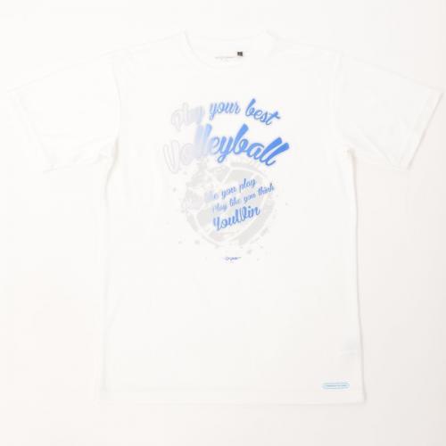 (セール)s.a.gear(エスエーギア)バレーボール 半袖Tシャツ 16SSグラフィックTシャツVLADY2 SA-S16-104-011 ホワイト