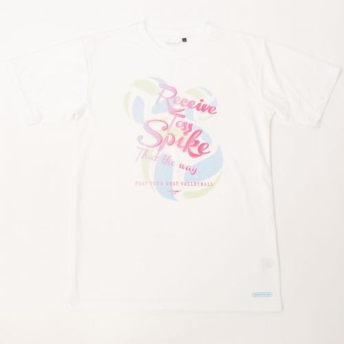 (セール)s.a.gear(エスエーギア)バレーボール 半袖Tシャツ 16SSグラフィックTシャツVLADY3 SA-S16-104-012 ホワイト