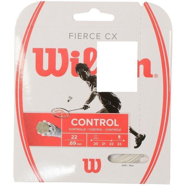 WILSON(ウィルソン)バドミントン ストリングス FIERCE CX WHITE WRR943300 0.69 WHT