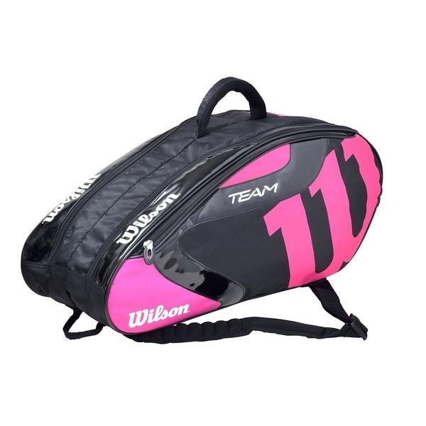 (セール)WILSON(ウィルソン)ラケットスポーツ バッグ ケース類 TEAM J 6 PACK BKPK WRZ641606 BLACK/PINK