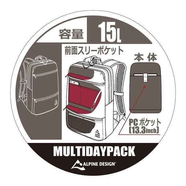 Alpine DESIGN(アルパインデザイン)トレッキング アウトドア カジュアルバックパックス マルチデーバック ADC-Y16-401-009 BLK ジュニア ブラック