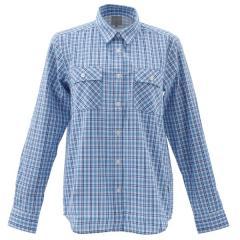 (セール)Alpine DESIGN(アルパインデザイン)トレッキング アウトドア 長袖シャツ 長袖チェックシャツ AD-S16-401-091 BLU レディース ブルー