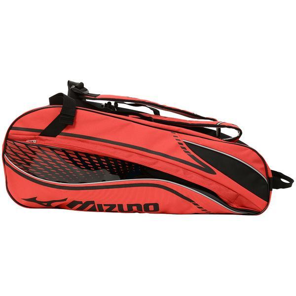 (送料無料)MIZUNO(ミズノ)テニス バドミントン ラケットバッグ ケース ラケットバッグ6 63JD600362 レッド