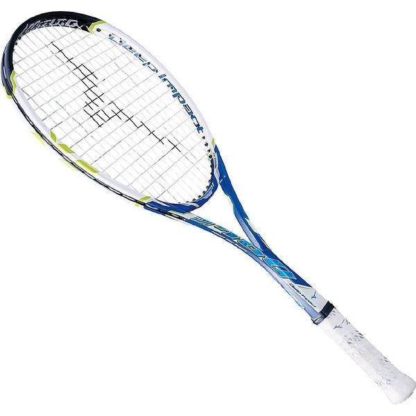 (送料無料)MIZUNO(ミズノ)【フレームのみ】ソフトテニス フレームラケット DEEPIMPACT 700 63JTN65714 00AU ネイビーブルーxホワイト