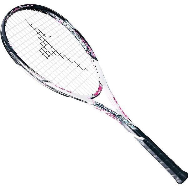 (送料無料)MIZUNO(ミズノ)ソフトテニス 張り上げラケット TECHNIX 200 63JTN67564 00ZG ホワイトxピンク