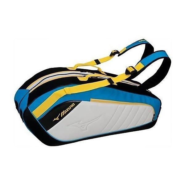 (セール)(送料無料)MIZUNO(ミズノ)ラケットスポーツ バッグ ケース類 ラケットバッグ6 63JD600424 ターコイズxイエローイエロー
