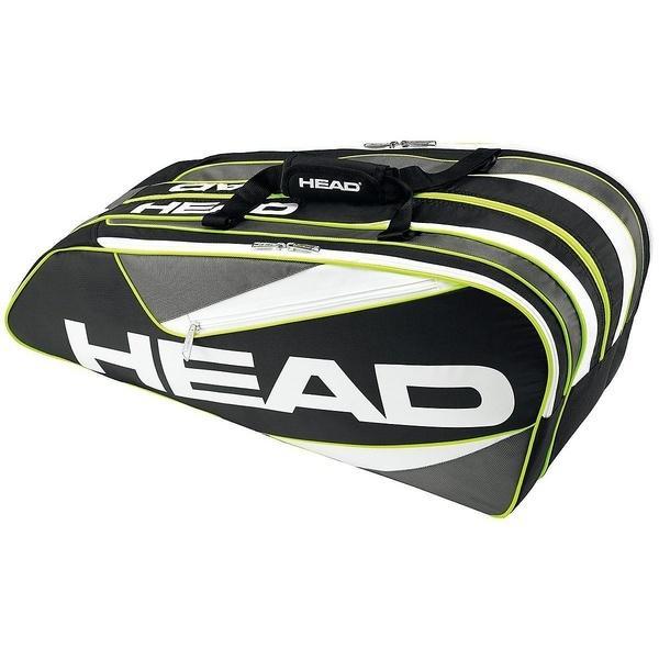 (セール)HEAD(ヘッド)ラケットスポーツ バッグ ケース類 ELITE 9R SUPERCOMBI 283366 BKAN