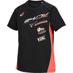 (セール)ASICS(アシックス)バレーボール 半袖プラクティスシャツ WSプラシヤツHS XW6197.9029 レディース BLK/ORG