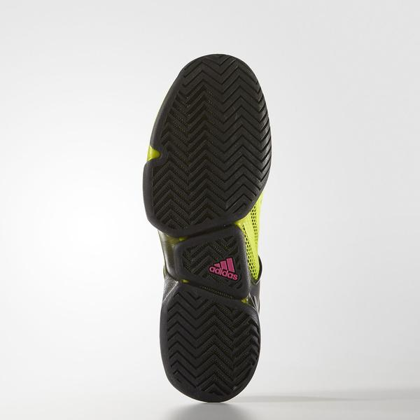 (セール)(送料無料)adidas(アディダス)テニス バドミントン オールコート アディゼロ ウーバーソニック IKW45 AF5790 メンズ コアブラック/セミソーラースライム/ショックピンク S16