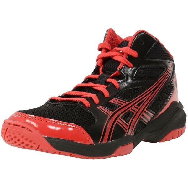 (セール)ASICS(アシックス)バスケットボール ジュニア シューズ DUNKSHOT MB 7 TBF138.9023 ボーイズ ブラツク/レツド