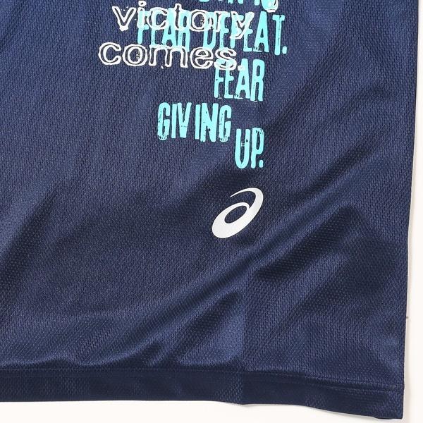 (セール)ASICS(アシックス)バスケットボール メンズ 半袖Tシャツ プリントTシヤツHS XB6571.50A NVY