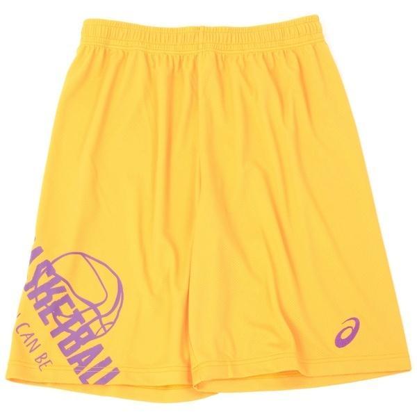 (セール)ASICS(アシックス)バスケットボール メンズ プラクティスショーツ プリントプラパン XB763N.07 GLD
