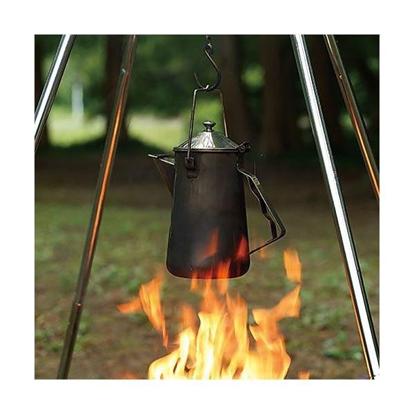 (セール)COLEMAN(コールマン)キャンプ用品 ファミリークックウェア ファイアープレイスケトル 2000026788