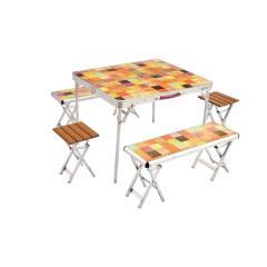 (送料無料)COLEMAN(コールマン)キャンプ用品 キッチンテーブル 一体型テーブル ナチュラルモザイクファミリーリビングセットプラス 2000026757