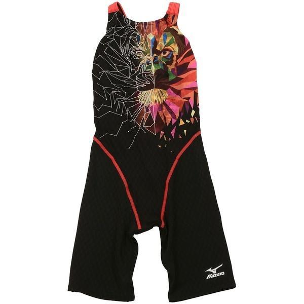 (セール)(送料無料)MIZUNO(ミズノ)スイミング レディース競泳 AVハーフスーツ(オープン)N2MG674696 レディース ブラックxレッド