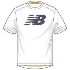 ニューバランス テニス バドミントン Tシャツ BR ベーシックショートスリーブビッグロゴTシャツ JMTT6136WT メンズ WT