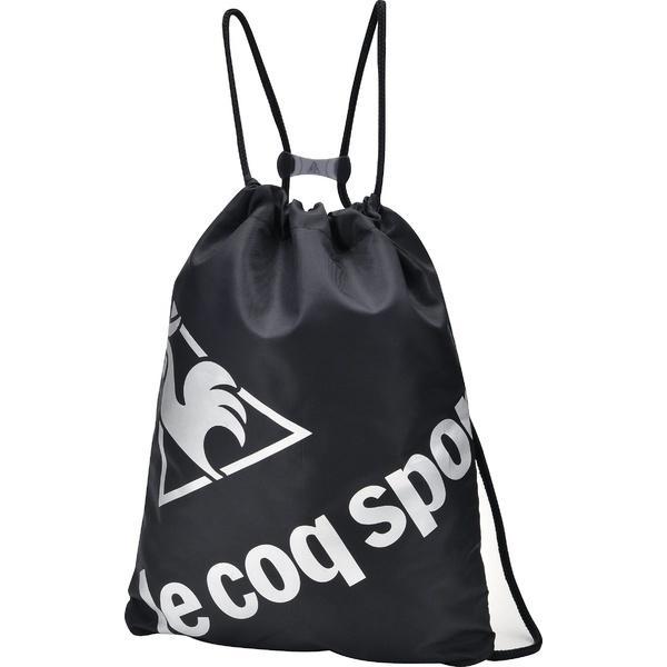 (セール)le coq sportif(ルコックスポルティフ) テニス バドミントン ラケットバッグ ケース 2ルームナップサック QA-690365 BLK F BLK