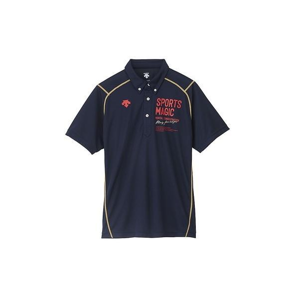 (セール)DESCENTE(デサント)バレーボール 半袖Tシャツ ポロシャツ DVB-4600 UNV